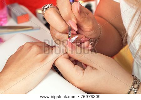 Manicure Process In Beauty Salon