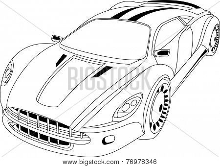 Abstract modern car. Perfect for car advertising auto accessories.