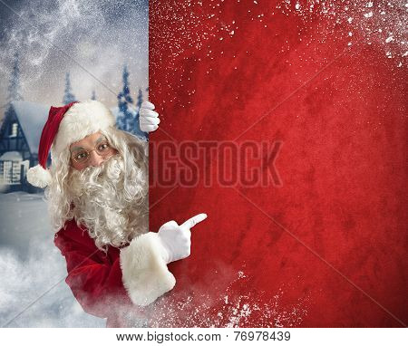 Santaclaus Red Billboard