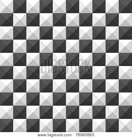 chessboard pyramid seamless pattern
