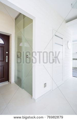 Big Wardrobe With Glass Door