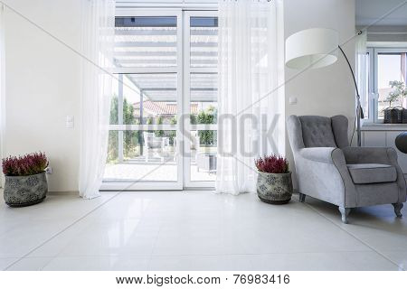 Balcony Window With Garden View
