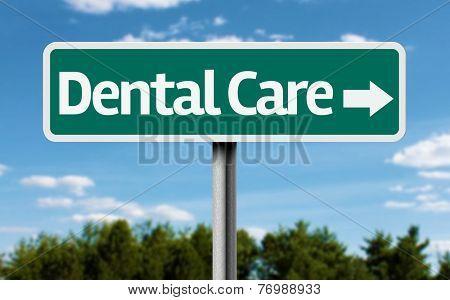 Dental Care creative green sign