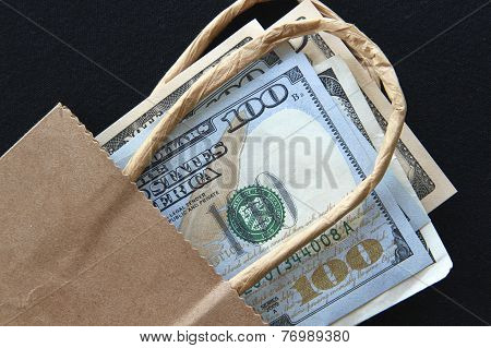 US Dollars in a Bag