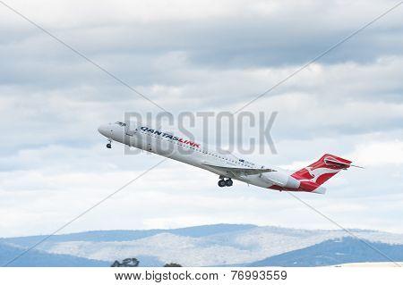 QantasLink Passenger Airliner Taking off