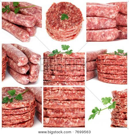 Minced Meat Products Collage