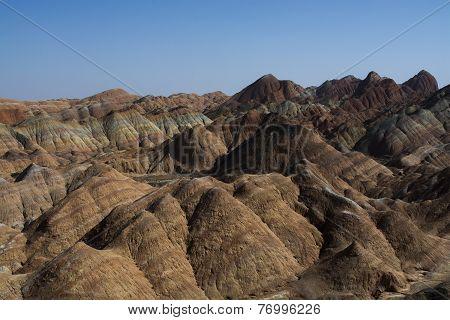 Danxia Landform In Zhangye, China