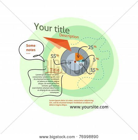 Infographics concept chart data in stylish way