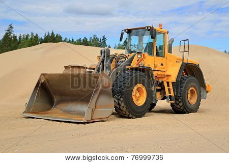 Volvo L150E Wheel Loader At A Sand Pit