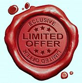 picture of restriction  - limited offer exclusive original edition and rare product Restricted and temporal promotion red wax seal stamp  - JPG