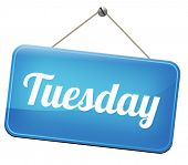 pic of tuesday  - tuesday week next or following day schedule concept for appointment or event in agenda  - JPG
