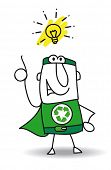 picture of heroes  - Good idea Super Recycling Hero - JPG