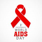 picture of intercourse  - 1st December World Aids Day concept with text and red ribbon of aids awareness - JPG