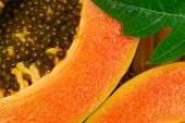 Close Up Of Papaya Fruit