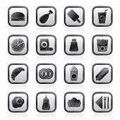 pic of meat icon  - fast food and drink icons  - JPG