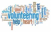 pic of kindness  - Volunteering issues and concepts word cloud illustration - JPG