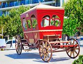 picture of stagecoach  - Old Coach Square Of The Resort Town Of Rethymno - JPG