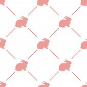 pic of bunny rabbit  - Easter rabbit seamless pattern  - JPG