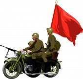 picture of sub-machine-gun  - Motorcycles WWII  - JPG