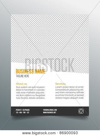 Business poster template - simple clean modern design
