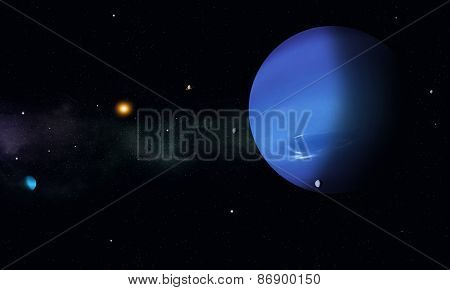 Space Journey To Neptune
