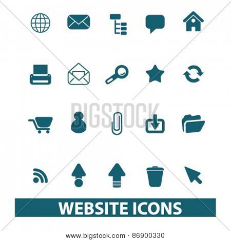 web, internet icons, signs, illustrations design concept set for appliciation, website, vector on white background