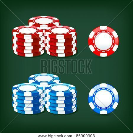 colored illustration chips casino icon