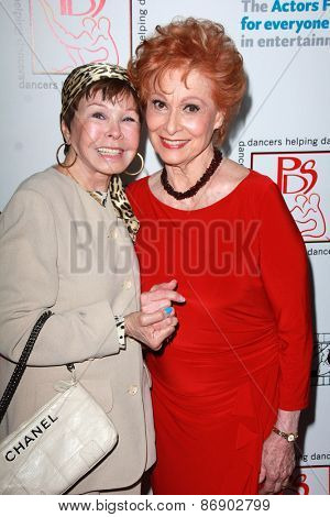 LOS ANGELES - MAR 29:  Neile Adams, Carol Lawrence at the 28th Annual Gypsy Awards Luncheon at the Beverly Hilton Hotel on March 29, 2015 in Beverly Hills, CA
