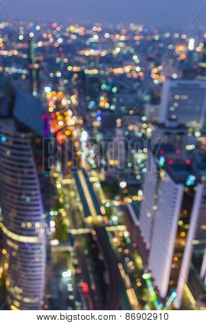 Bangkok cityscape view, Blurred Photo bokeh