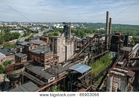 Old, abandoned steel plant