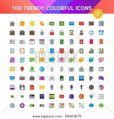 100 Universal Icons Set 1