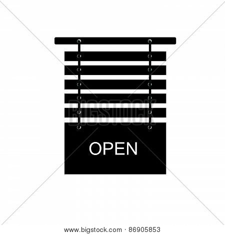 Open Signboard Vector