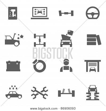 Set of auto service icons