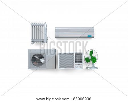 Aircon, heater, climate equipment