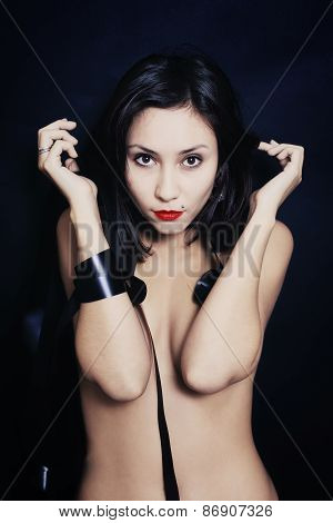 Studio Portrait Of A Beautiful Young Asian Woman
