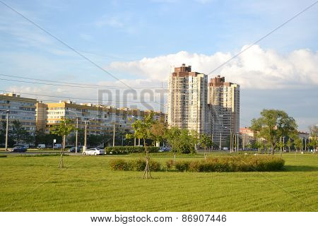 Park And Residential Suburb Of St. Petersburg.