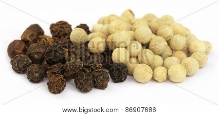 Black And White Peppercorns