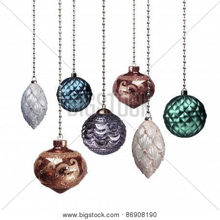Christmas Decoration Colours Dimmed