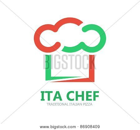 Italian chef logo or symbol icon