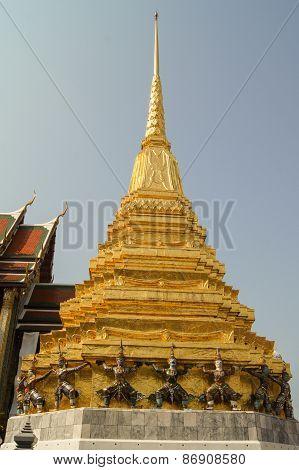 high gilded stupa