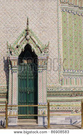 door with elegant portico
