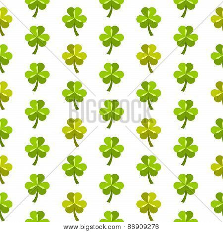 St patrick day seamless pattern with shamrock