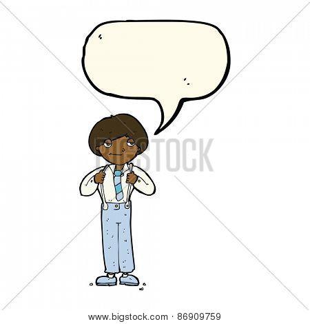 cartoon man wearing braces with speech bubble