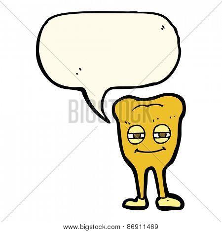 cartoon gold tooth