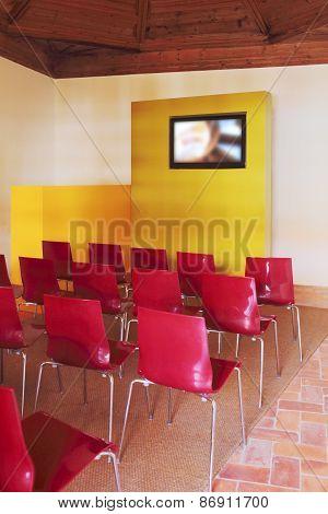 Modern auditorium, presentation