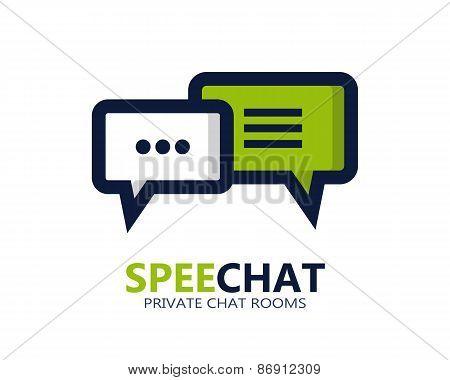 Chat vector symbol icon or logo
