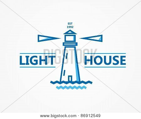 Lighthouse vector logo or symbol icon