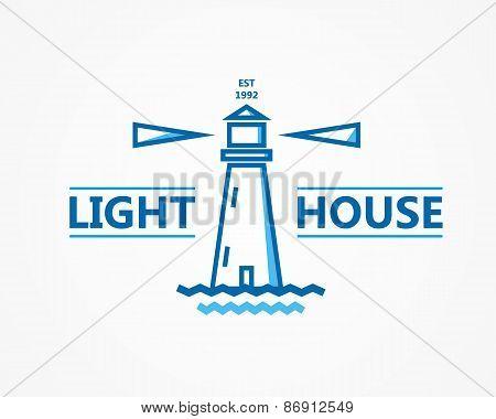 Lighthouse vector logo or symbol icon