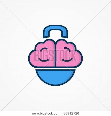 Logo with a combination of brain and weight