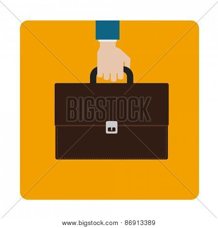 hand with briefcase icon design